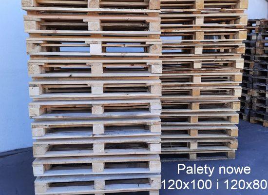 Palety nowe 120x100 i 120x80-biały